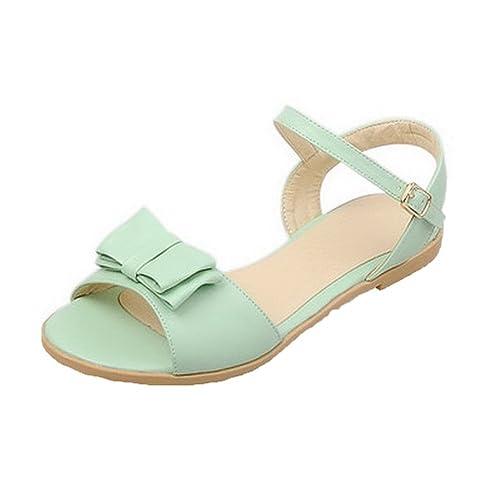 6392f20a48c AalarDom Mujer Puntera Abierta Mini Tacón PU Sólido Hebilla Sandalias de  Vestir  Amazon.es  Zapatos y complementos