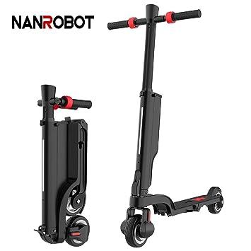 NANROBOT - Patinete eléctrico para Adultos, Ligero, Plegable ...