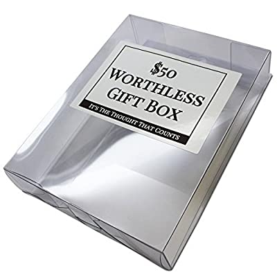 The $50 Worthless Gift Box – Gag Gifts for Him – Gag Gifts for Her – Silly Gifts – Prank Gift Box – Weird Gifts – It's the thought that counts by Gears Out