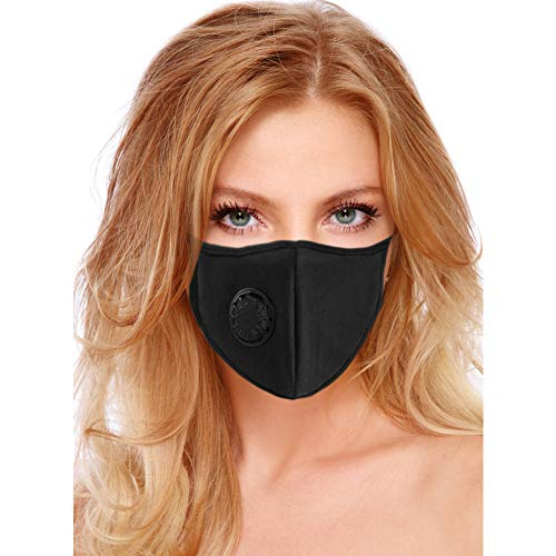 Air Pollution Mask Filter Washable and Reusable Anti-Pollution Dust Mask With Filter Valve Masks Respirator For Allergies Flu Pollen Smoke - PM2.5 N95 Protection