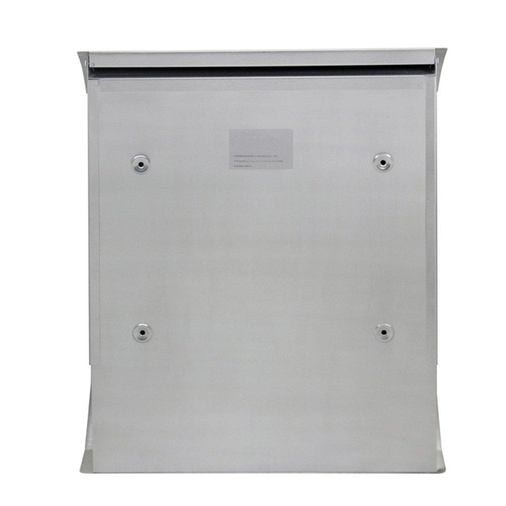 SAILUN Silber Bo/îte aux lettres en acier inoxydable avec porte-journaux aufklapp barem pluie toit Bo/îte aux lettres avec compartiment pour journal Type E