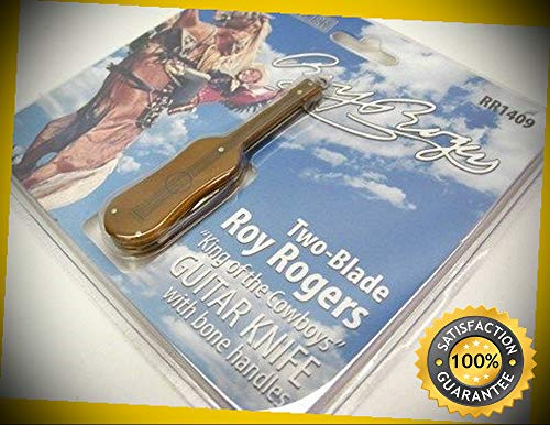 - Roy Rogers King Of The Cowboys 2 Blade Guitar Pocket Sharp Knife 1409 perfect for outdoor camping hunting