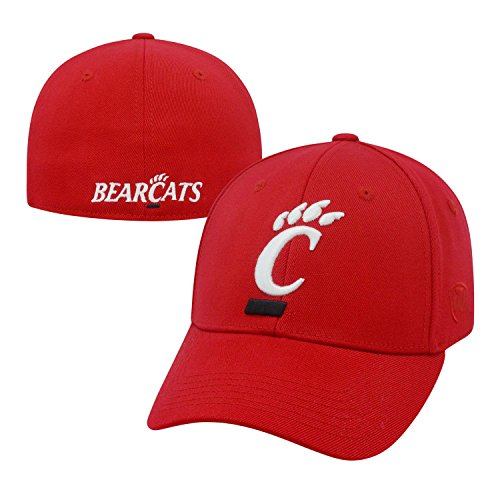 Top of the World NCAA Cincinnati Bearcats Memory Fit Wool Blend Hat, One Size, Red ()