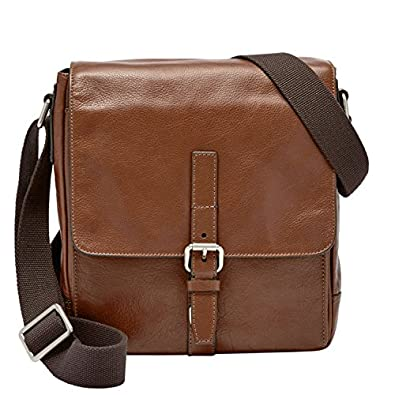 Amazon.com: Fossil Davis Leather North South Cognac City Bag ...