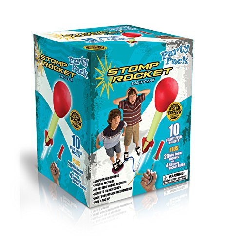 Stomp Rocket Ultra Rocket Party Pack, 30 Rocket Combo - Great Outdoor Rocket Toy Gift for Boys and Girls Ages 6 (7, 8, 9) Years and Up - Comes with Toy Rocket Launcher and Rockets -
