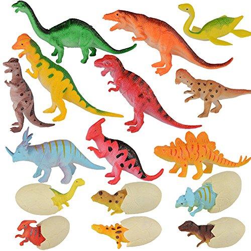 子供のための教育用プラスチック盛り合わせの恐竜のおもちゃフィギュア - 16パック、#10