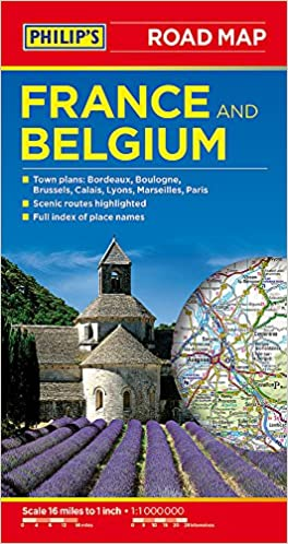 philips road map france and belgium amazoncouk philips maps 9781849073851 books