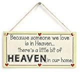 Meijiafei Because someone we love is in Heaven… there's a little bit of HEAVEN in our home - Lovely Missing Loved Ones Sign 10'x5'