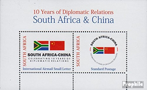 South Africa block114 (complete.issue.) 2008 diplomatic Relationship (Stamps for collectors) Olympic games