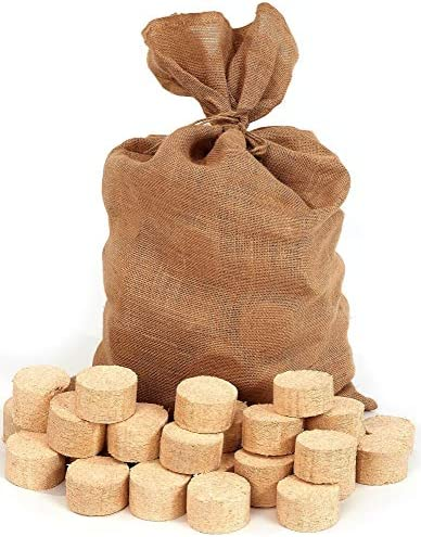 Floranica® Briqueta comprimida en Bolsa de Yute, briquetas de ...