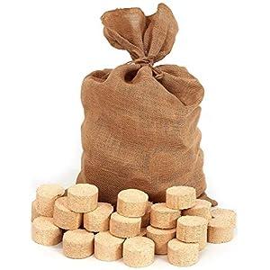 Floranica® bricchetti di Legno compressa in Sacchetto di Juta, brichetta di conifere, Rotonda/Senza Buchi, Adatta per… 6 spesavip
