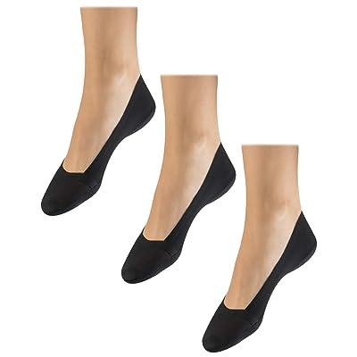 'Warner's Women's No Show Stretch Never Slip Liner Socks (3 Pack), Shoe Size: 4-10, Black' at Women's Clothing store