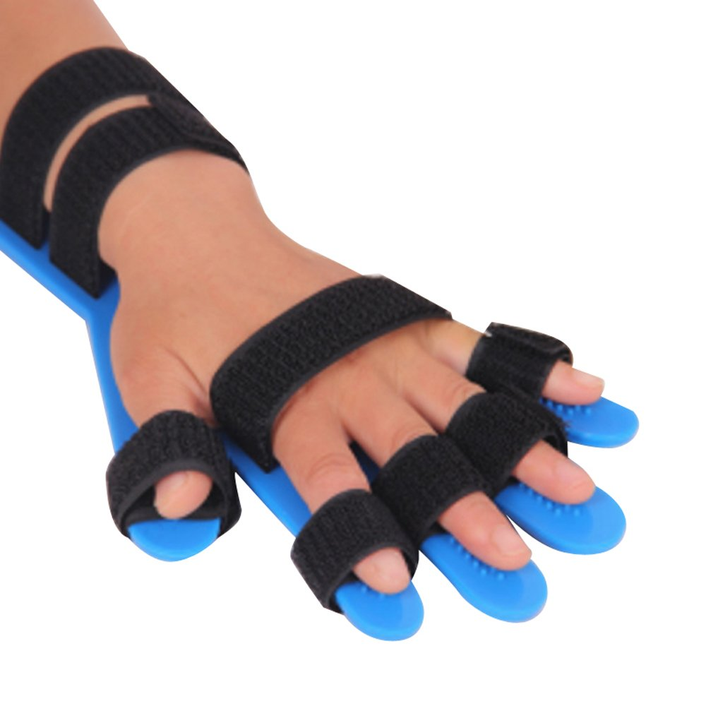 Genmine Finger Splint Fingerboard Finger Separator Orthotics Points Hand Wrist Training Orthosis Device Brace Support Flex Spasm Extension Board Splint Apoplexy Hemiplegia Right Left Men Women
