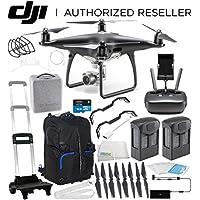DJI Phantom 4 PRO Obsidian Edition Drone Quadcopter (Black) Essential Travel Backpack Bundle