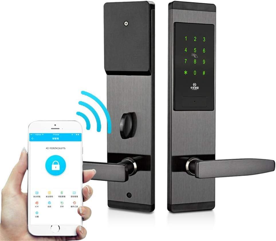 intelligenter digitaler APP WiFi Touch Screen Tastatur Passwort Schloss T/ür Home Office T/ürschloss YJF-ZWS Fingerabdruck-Password Lock Smart Electronic T/ürschloss