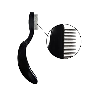 2e74649f45d Amazon.com: 1 Pcs Foldable Stainless Steel Teeth Lash Comb Eyebrow Shaper  Mascara Comb Eyebrow Comb Makeup Tools(Black): Beauty
