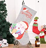 Yingealy Great Party Supplies Christmas Stocking Decoration Christmas Supplies Hotel Bar Party Shopping Mall Pendant(A)