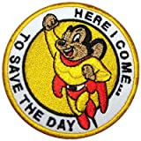 "MIGHTY MOUSE "" Here I Come"" 3"" Embroidered PATCH"