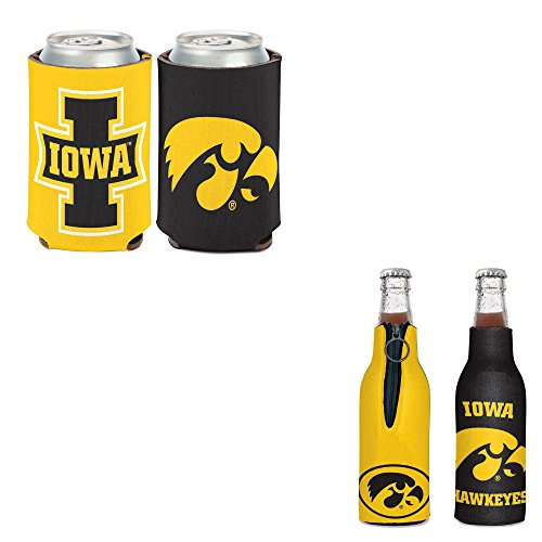 WinCraft Bundle - 2 Items: University of Iowa Bottle Cooler and Can Cooler ()
