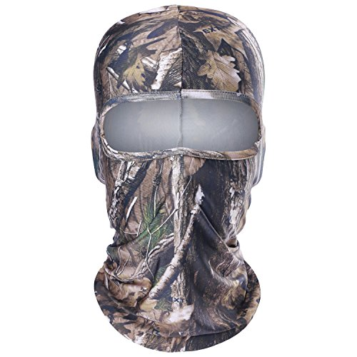 JIUSY 1 Pack – Excellent Elastic Breathable Camouflage Balaclava Helmet Liner Face Mask Protection for Hunting Hiking Tactical Airsoft Paintball Cycling Motorcycle Ski Snowboard Summer Outdoor Sports