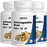 Nutricost Ashwagandha Herbal Supplement 600mg, 120 Capsules – Healthy Stress Response (3 Bottles) For Sale