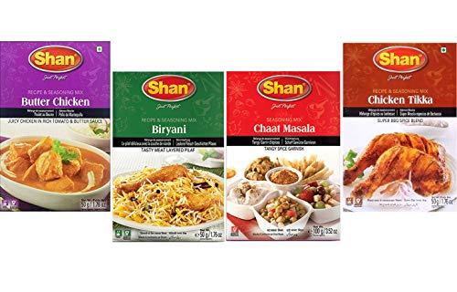 Shan - Spice Combo #3 (Butter Chicken, Biryani, Chaat Masala, Chicken Tikka)