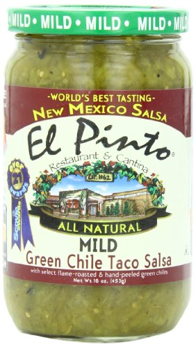 El Pinto Taco Salsa, Mild Green Chile, 16 Ounce (Pack of 6)