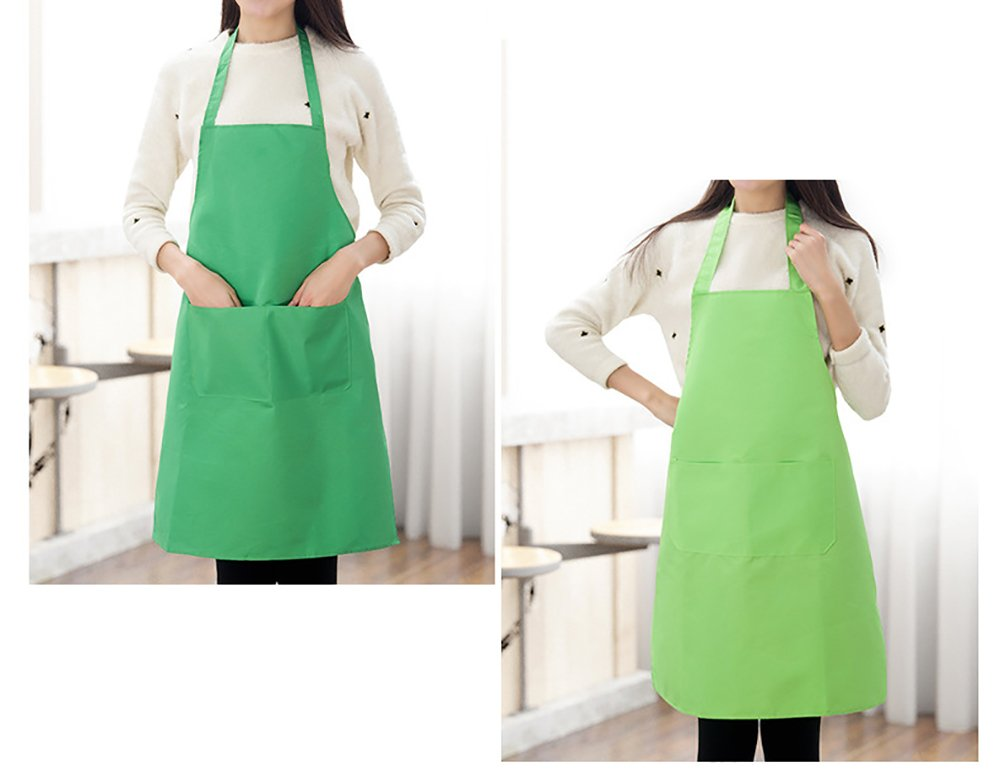 TSD STORY Total 12 PCS Plain Color Bib Apron Adult with 2 Front Pocket by TSD STORY (Image #6)
