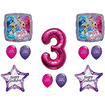 Amazon.com: amscan Latex Balloons | Shimmer and Shine ...