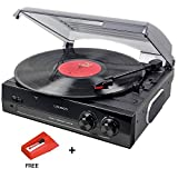 Lauson CL502 Turntable, USB Vinyl-To-MP3 Record Player, 3 Speed, Stereo Built in Speakers, Belt-driven & Extra Stylus AG101