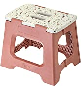 Vigar Compact Foldable Stool, 12-1/2 inches, Lightweight, 330-pound Capacity Non-Slip Folding Ste...