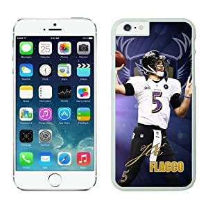 NFL Case Cover For SamSung Galaxy S6 Baltimore Ravens Joe Flacco White Case Cover For SamSung Galaxy S6 Cell Phone Case ONXTWKHB0354