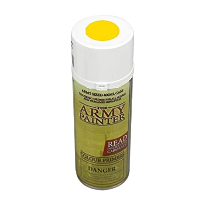 The Army Painter Color Primer, Daemonic Yellow, 400ml, 13.5oz - Acrylic Spray Undercoat for Miniature Painting: Toys & Games