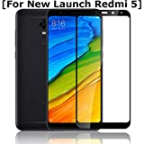 Annure 3D [Shatterproof] Edge To Edge Tempered Glass Screen Protector For Xiaomi Redmi 5 - Black