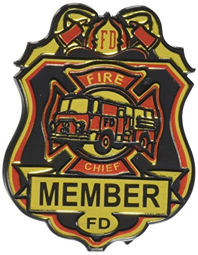 Beistle 66785 4-Pack Fire Chief Badges, 23/4-Inch (Firefighter Badges)