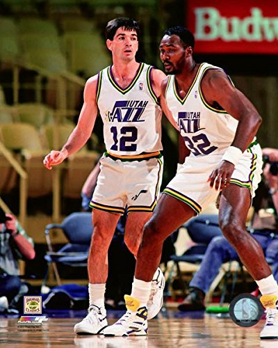 51bd9847f Image Unavailable. Image not available for. Color  Karl Malone John  Stockton Utah Jazz ...