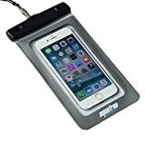 """Aquafree Waterproof Pouch Bag Case Dry Bag for Apple iPhone 6 Plus,6,5S,5C,4S Samsung Galaxy S6,S6 Edge,S5,S4,S3, Kindle Passport Wallet, Watch, Key, MP3 Player - For Diving Boating Kayaking Rafting Swimming Sunbathing Hiking (Grey, 7""""X4.3"""")"""