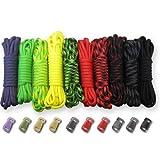 """Paracord Survival Bracelet Combo Kits – 550lb Parachute Cord and 3/8"""" Plastic Contoured Buckles"""
