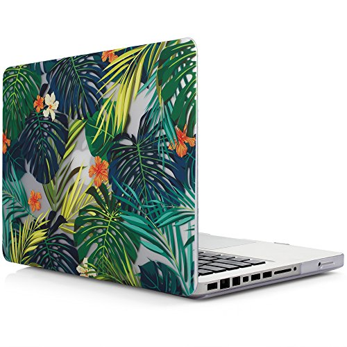 iDOO Matte Print Hard Case for MacBook Pro 13 inch with CD Drive Model A1278 Palm leaves
