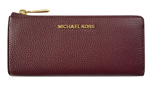 Michael Kors Bedford Large Three Quarter Zip Around Pebbled Leather Wallet - Michael 3 Kors