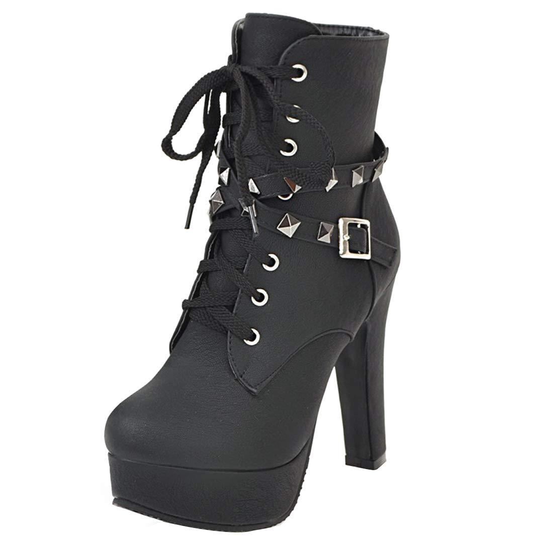 Mavirs Womens Matran Block Heel Heel Heel Ankle-high 12 cm Boots B07GJDLH2G Boots 040e4b