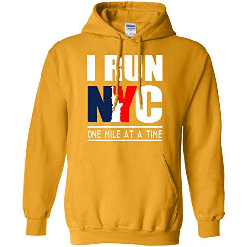 I Run NYC One Mile At A Time Hoodies, Unisex Hoodies, Warm Hoodies, Soft Hoodies, Gift for Friends, Christmas Gift, Nice Gift, Size S-5XL