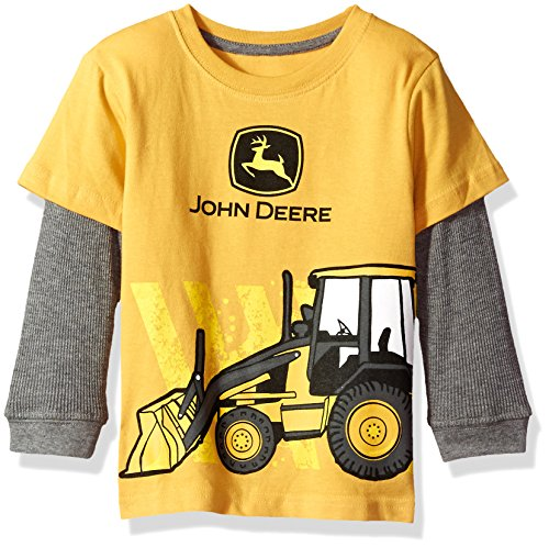 John Deere Baby Boys' 2 for Tee-Yellow,