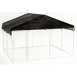 Dog Kennel Cover - WeatherGuard Extra Large All Season Dog Run Cover & Roof for 10ft. X 10ft. Outdoor Cages and Pens (10ft. X 10ft)