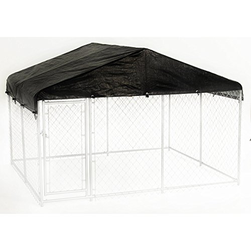 Dog Kennel Cover - WeatherGuard Extra Large All Season Dog Run Cover & Roof - Perfect Fit for 10ft. X 10ft. Outdoor Cages and Pens (10ft. X 10ft)