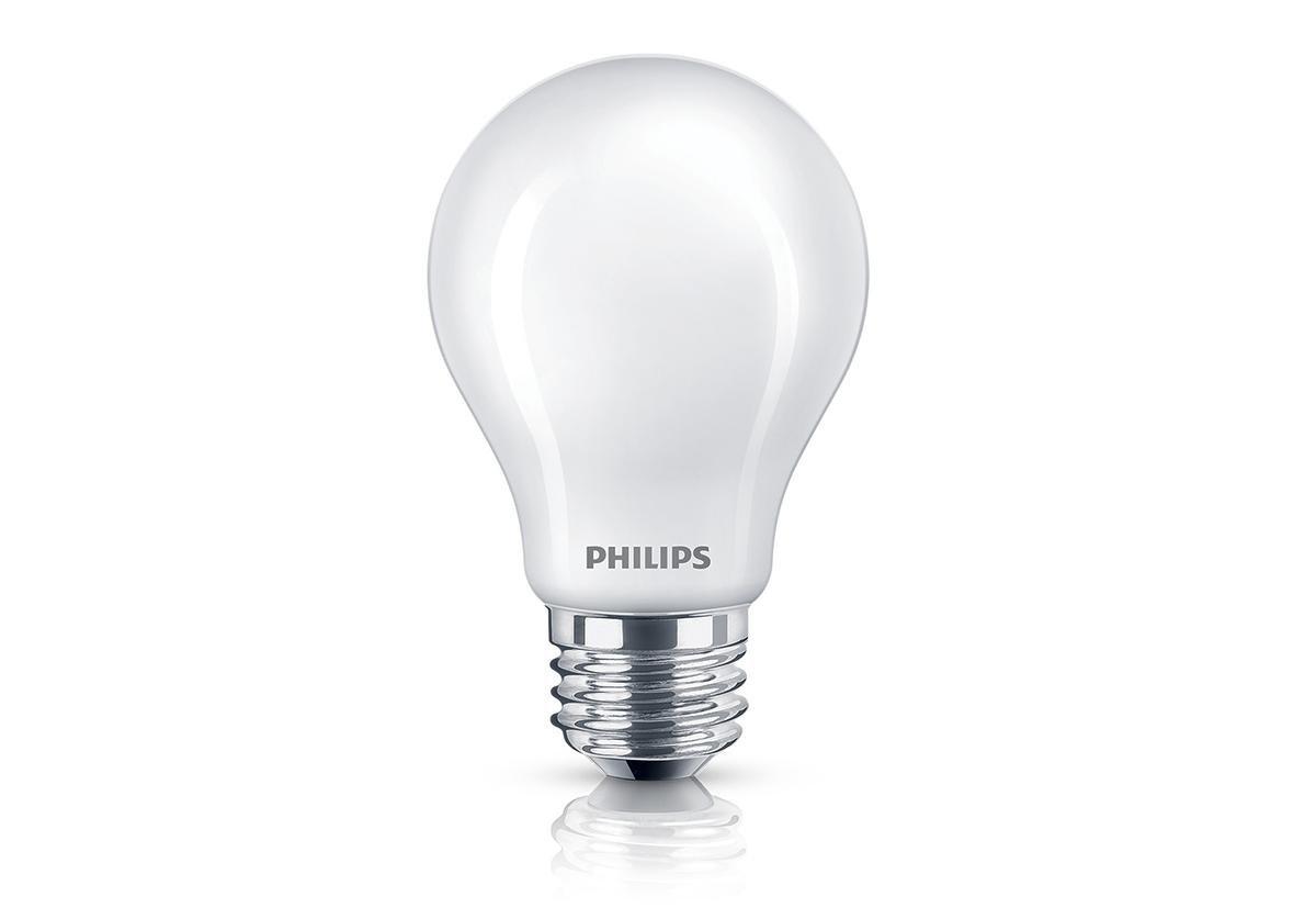 Soft White Philips LED Classic Glass Non-Dimmable A19 Light Bulb: 800-Lumen E26 Base 2700-Kelvin 7-Watt 6-Pack 470732 Frosted 60-Watt Equivalent