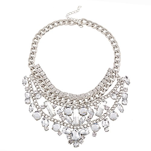 Lovely-Shop Women's hot-selling new alloy hollow acrylic necklace fashion generous cross-border electricity - Acrylic Platform Multi