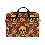 Search : Sugar Skull Dia De Los Muertos 14 Inch Laptop Shoulder Messenger Bag Case Sleeve Briefcase with Handle for Women Men