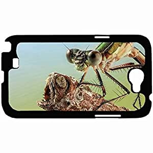 New Style Customized Back Cover Case For Samsung Galaxy Note 2 Hardshell Case, Back Cover Design Dragonfly Eye Macro Personalized Unique Case For Samsung Note 2 Kimberly Kurzendoerfer