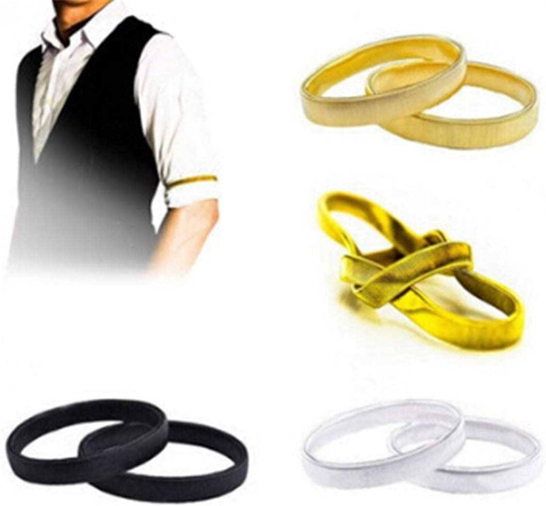 Coolrunner Anti-slip Metal Shirt Sleeve Holders Armband Arm for.. Free Shipping